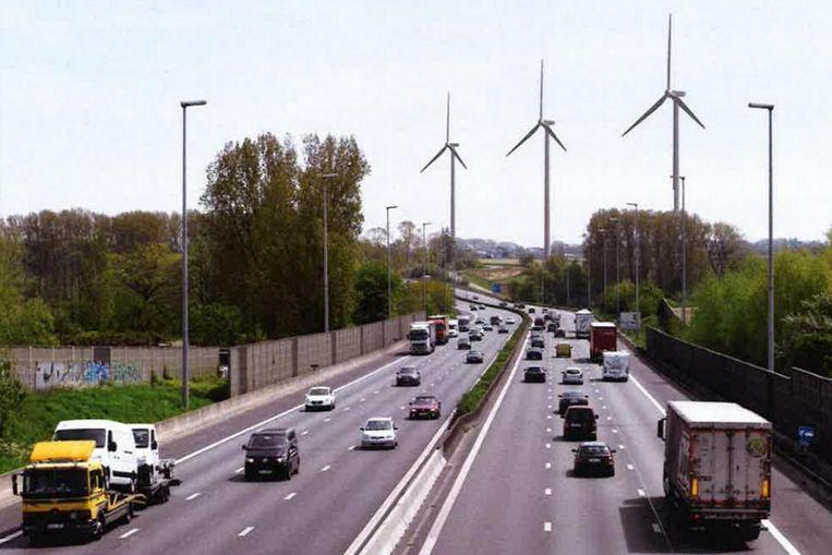 Oorspronkelijk wou Engie Electrabel drie turbines langs de E40 in Erpe-Mere plaatsen.