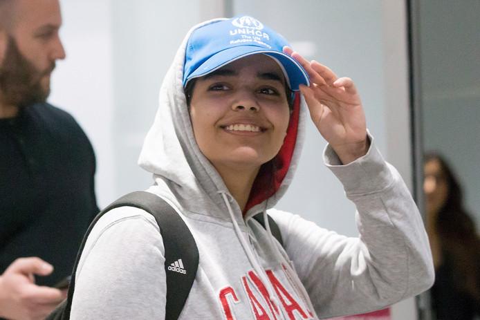 Rahaf Alqunun arriveerde op 12 januari op het vliegveld van Toronto.