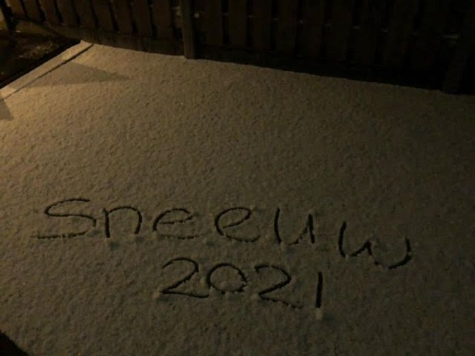De eerste sneeuw geregistreerd.