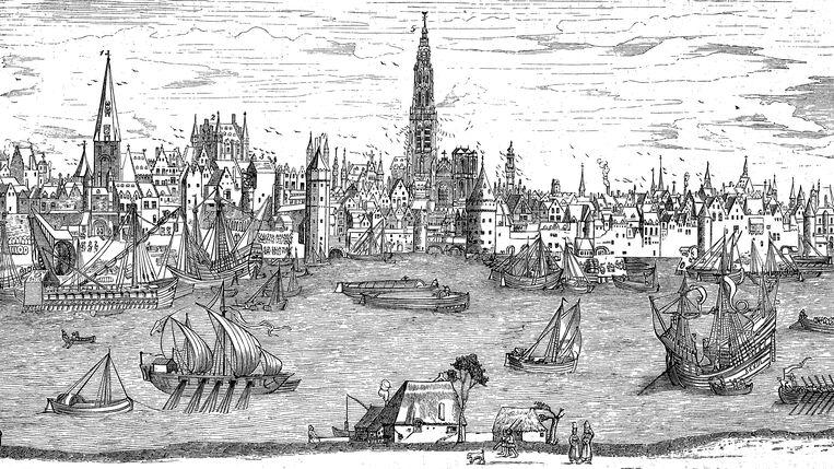 Panorama van Antwerpen aan het begin van de zestiende eeuw. Beeld Bildagentur-online/Universal Ima