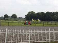 Traumaheli voor zwaargewonde ruiter in Rijkevoort