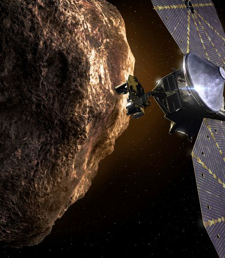 Ruimtesonde Lucy begint aan jarenlange reis naar rotsen bij Jupiter