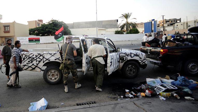 Rebellen in Tripoli Beeld afp
