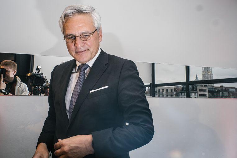 Persconferentie waar Kris Peeters (vice-premier CD&V) bevestigt dat hij de CD&V lijst in Antwerpen zal trekken bij de komende gemeenteraadsverkiezingen van 2018 in Antwerpen. Beeld Wouter Van Vooren