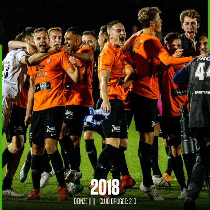 Deinze was door het dolle heen na de overwinning tegen Club Brugge.