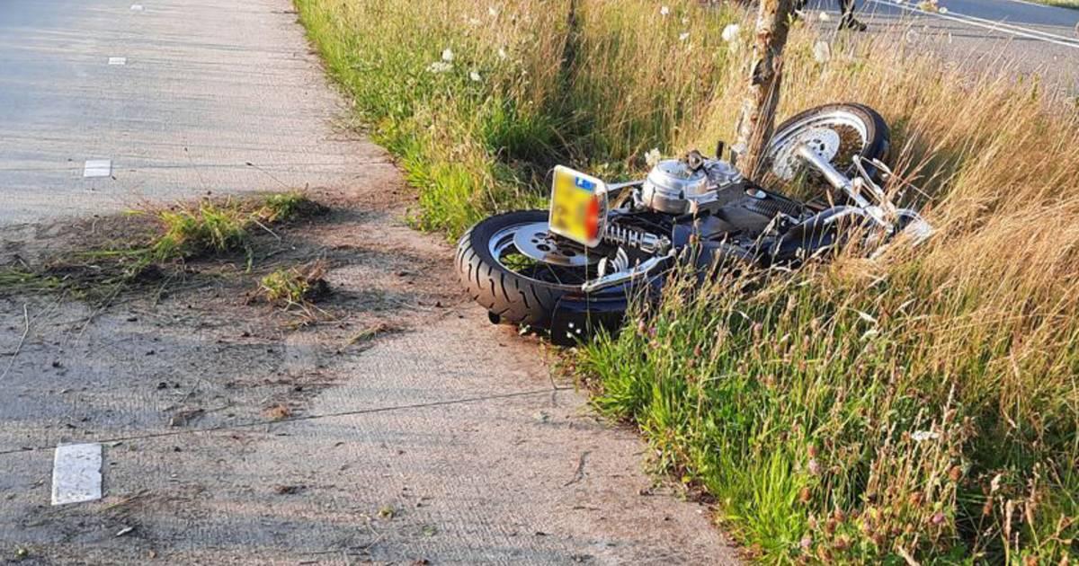 Motorrijder ernstig gewond na aanrijding met boom in Dalfsen.