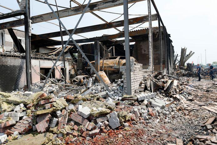 Flinke schade na de brand in Eindhoven.