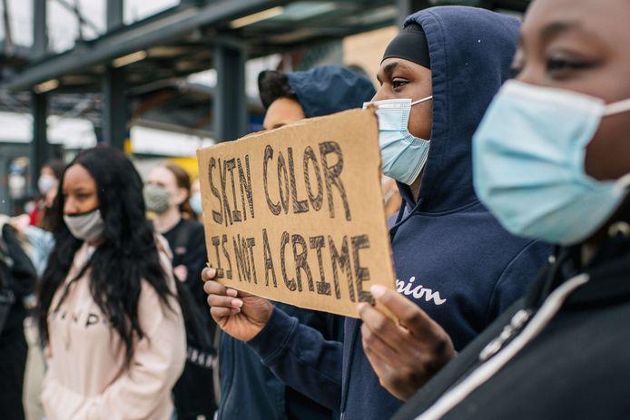 Protest tegen politiegeweld in Minneapolis.