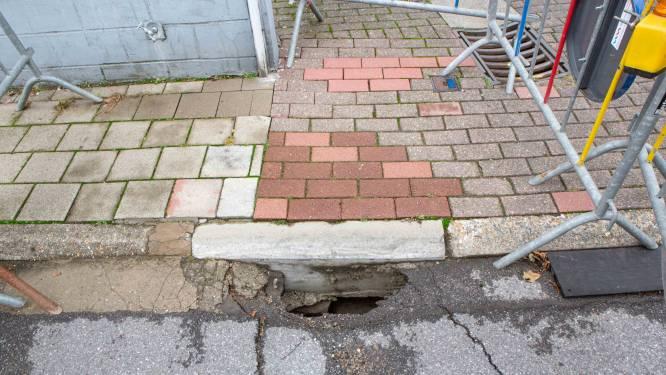 """Voetpaden en straten zakken in: """"Vermoedelijk gevolg van storm Odette"""""""
