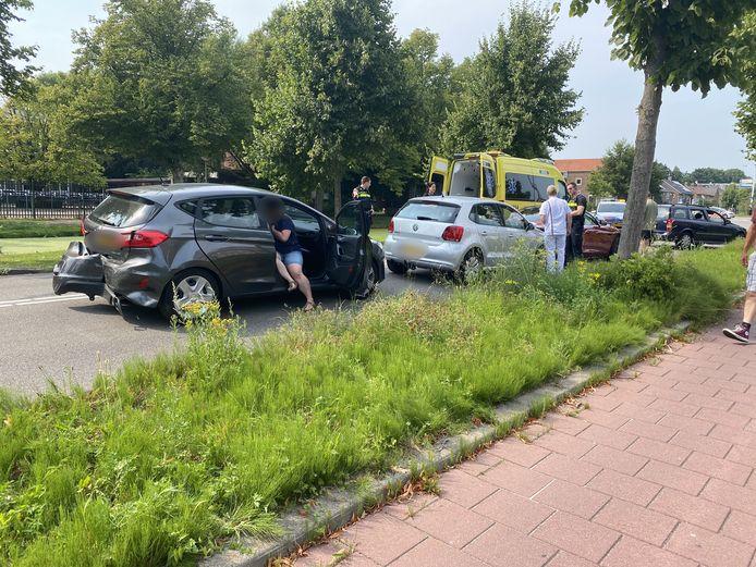 Druk verkeer leidt soms tot ongelukken op de Bodegraafsestraatweg in Gouda, zoals vorig jaar zomer.