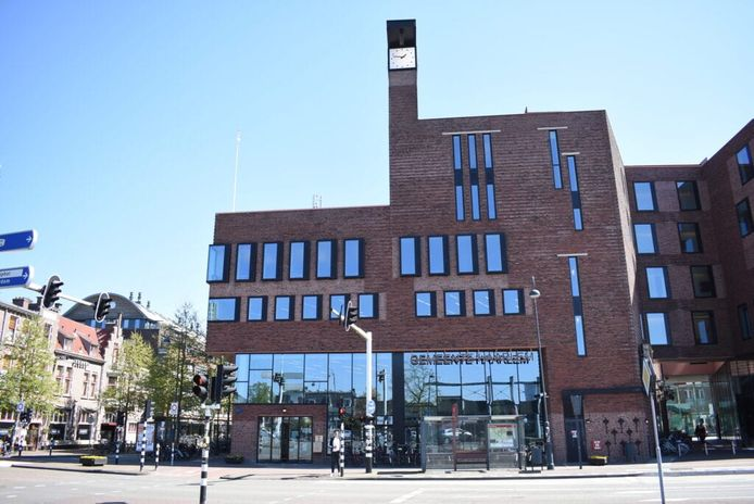 Het gemeentehuis van Haarlem.