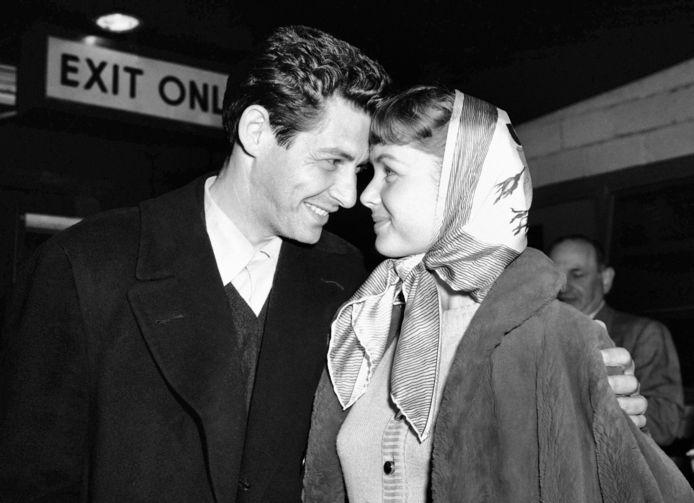 Eddie Fisher en Debbie Reynolds in 1955.