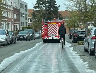 Brandweer ruimt mazoutspoor op Sint-Elisabeth in Kortrijk op