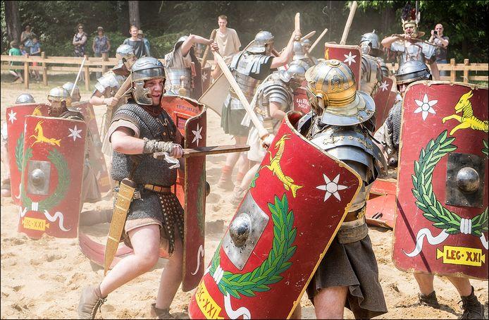Reenactors tijdens een Romeinen Festival in Museumpark Orientalis, enkele jaren geleden.