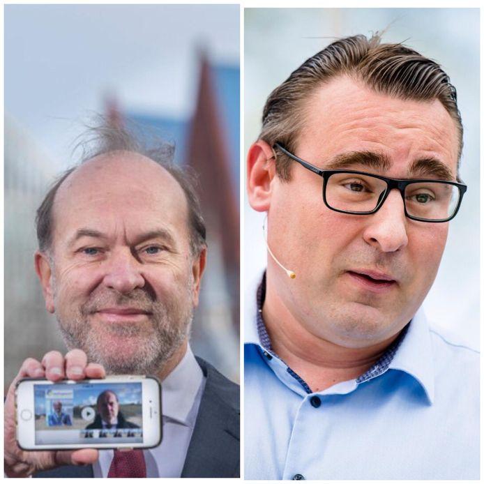Burgemeesterskandidaten Bert Blase en Richard de Mos.