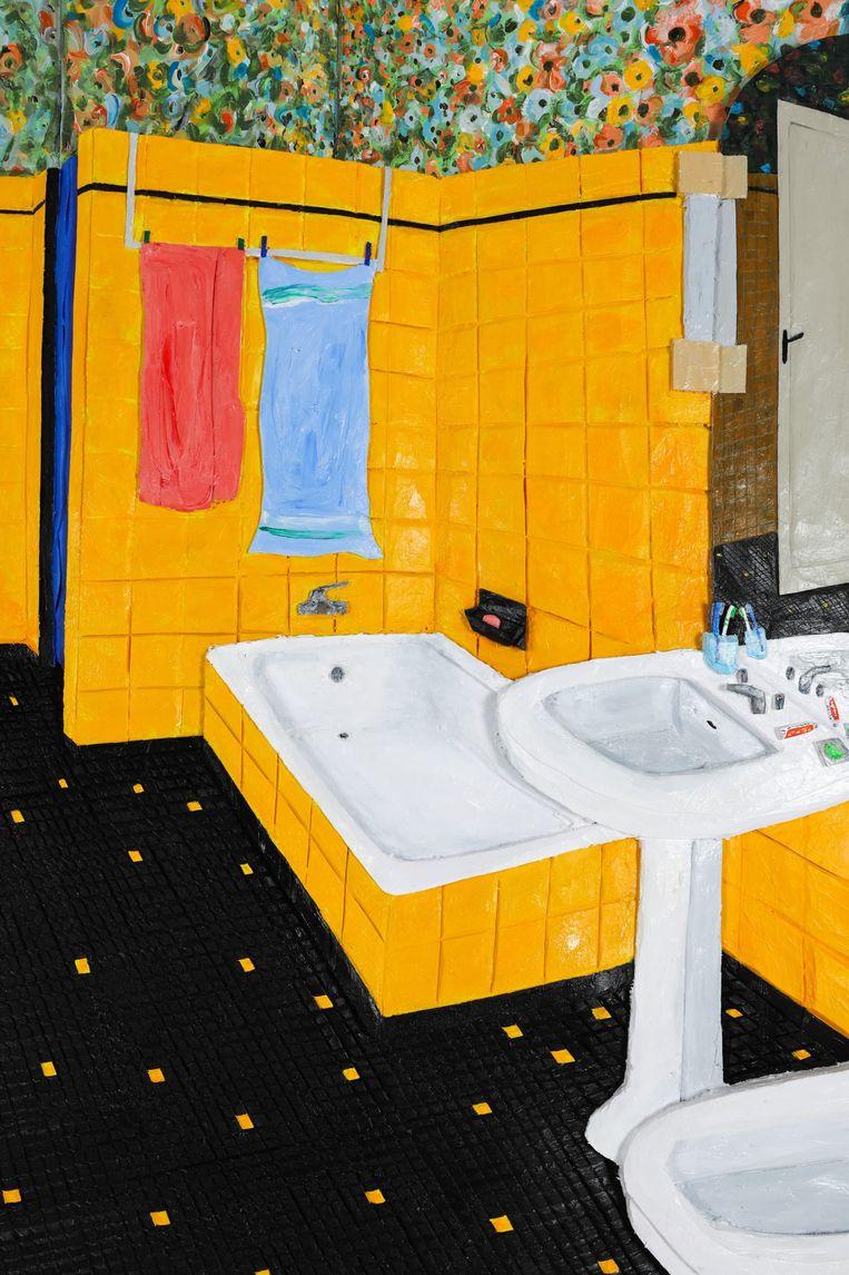 Victor Delestre - Bathroom in Oloron-Sainte-Marie (to Jean-Baptiste and Simone), 2020, Everyday Gallery  Beeld BEELD GALLERY VIEWER