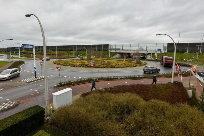 De situatie bij de toe- en afritten aan de zuidkant van de A59 bij Nieuwkuijk.
