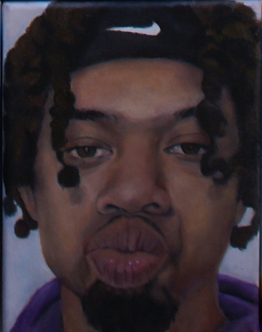 Een geportretteerde man uit de reeks KUS van Daisy Karthaus.