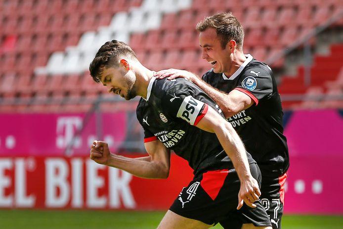 Marco van Ginkel maakte tegen FC Utrecht zijn eerste doelpunt voor PSV sinds zijn rentree vorig jaar zomer.