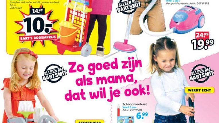 De reclamefolder van Bart Smit. Beeld