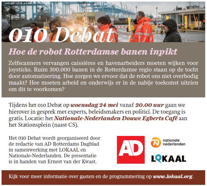 010Debat: Hoe de robot Rotterdamse banen inpikt.