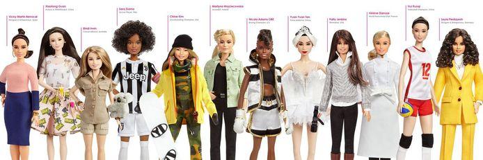 De nieuwe elf 'hedendaagse' Shero-Barbies.