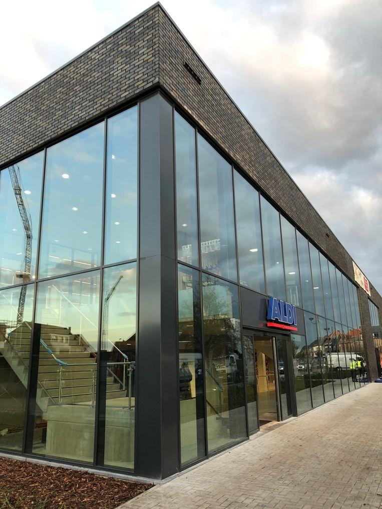 De nieuwbouw van Aldi in Oud-Turnhout.
