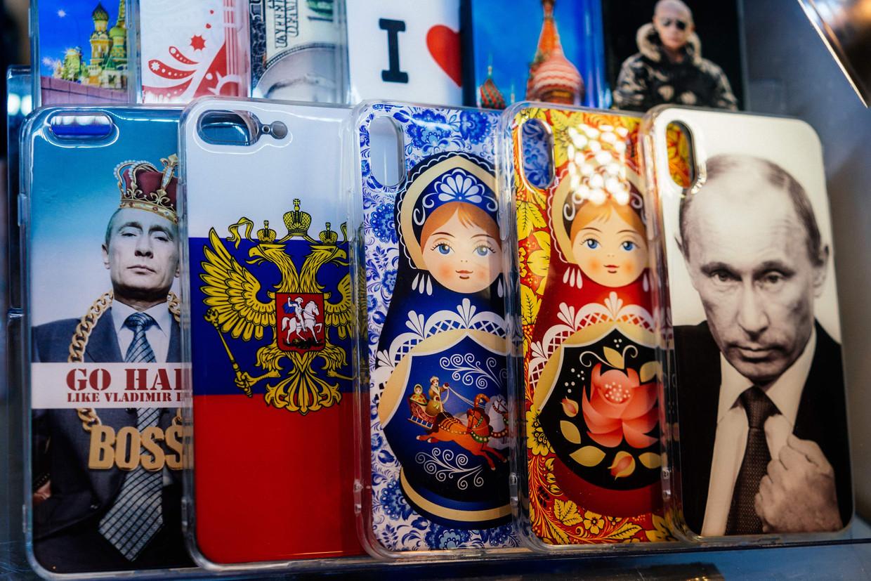 Poetin is zo stilaan even symbolisch voor Rusland als de typische matrjosjkapoppetjes. Beeld AFP