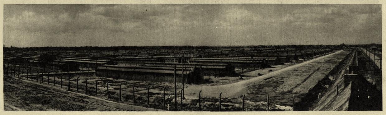 Een ongedateerde foto van Auschwitz-Birkenau, vermoedelijk genomen door een SS'er.