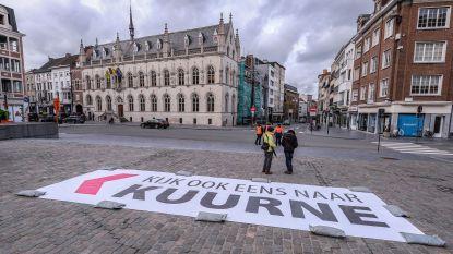 Kuurne en Kortrijk trekken met reuzen aandacht van Sporza-camera's tijdens Kuurne-Brussel-Kuurne