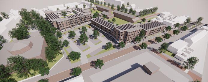Een nieuwbouwproject van Stadlander in Bergen op Zoom. Het nieuwe winkelhart in wijk Gageldonk-West.