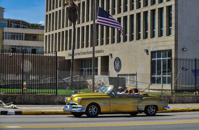 De Amerikaanse ambassade in Havana, Cuba.