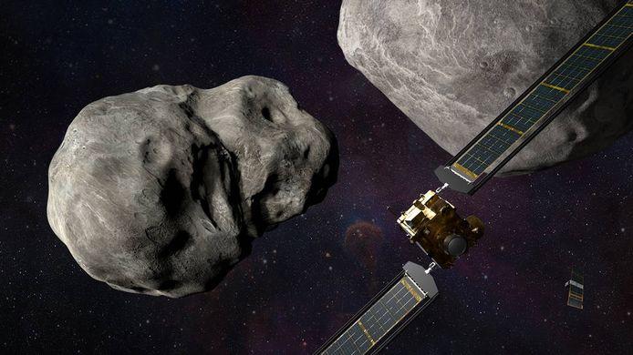 Nasa-sonde Dart moet asteroïde Dimorphos met een snelheid van 14.000 kilometer per uur raken.