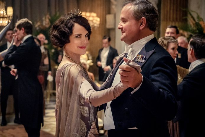 Elizabeth McGovern en Hugh Bonneville in 'Downton Abbey'