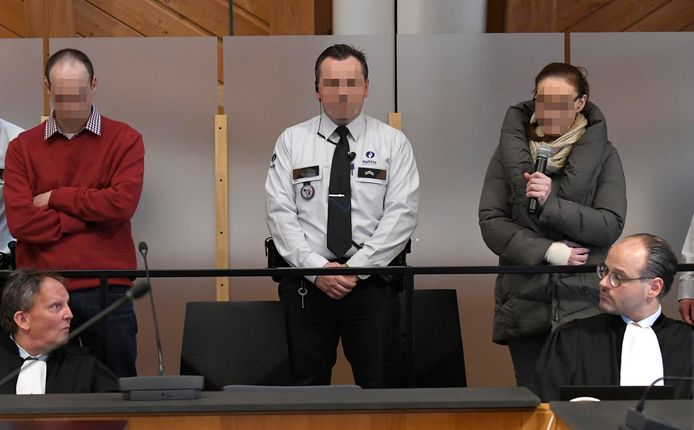 Natasja De Paepe (39) uit Essen en Bart Goossens (37) uit Lokeren  worden beschuldigd van de (roof)moord op de gepensioneerde leerkracht Frank Serruys (62) uit Antwerpen.    ©  Philip Reynaers  / Photo News