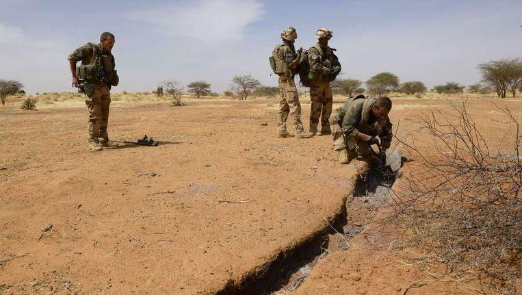 Franse militairen bij Gao, in het noorden van Mali. Beeld afp