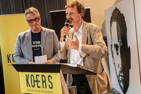 Johan Ghysels van Uitgeverij Lannoo en auteur Stijn Vanderhaeghe lichtten VDB Forever toe.