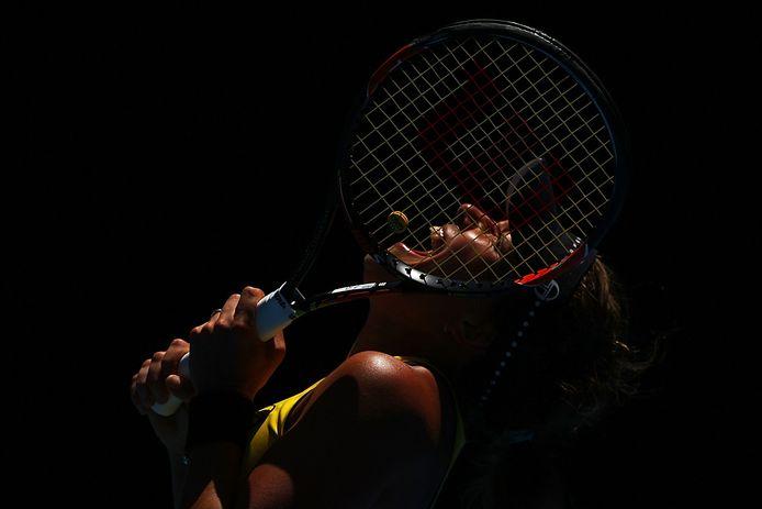 De Tsjechische tennisster Barbora Strycova tijdens de Australian Open.
