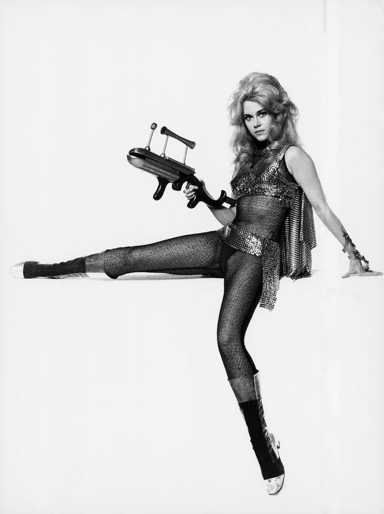 Publiciteitsfoto voor de film Barbarella uit 1968. Beeld Bettmann Archive
