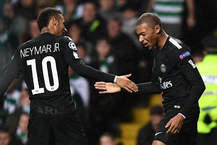 Neymar en Mbappé. De twee meest recente topversterkingen van PSG. Beeld anp