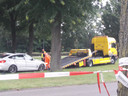 De auto die werd bestuurd door de Bosschenaar (50) wordt weggesleept.