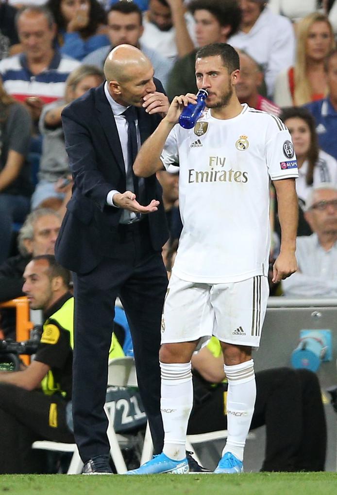 Zinédine Zidane et Eden Hazard