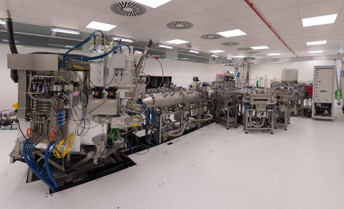De opstelling van de machine bij TNO. Foto TNO