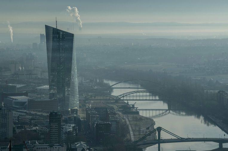 Het hoofdkantoor van de ECB in Frankfurt. Beeld AFP