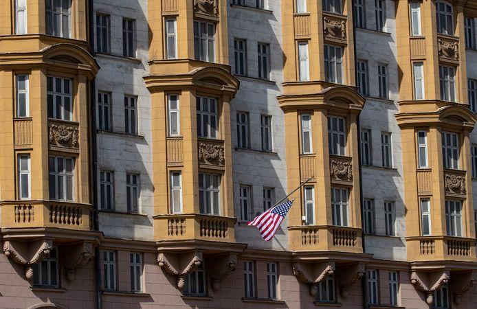 De Amerikaanse ambassade in Rusland.