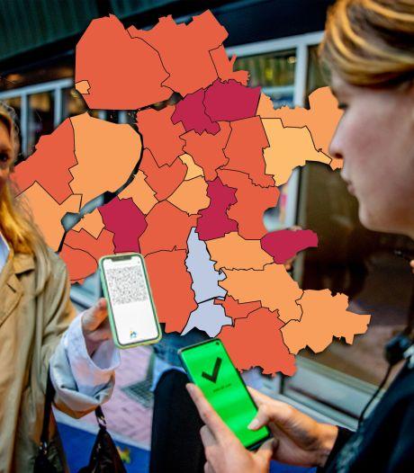 KAART | Drie gemeenten op Biblebelt opnieuw rood na dag vol positieve tests, piek in Flevoland
