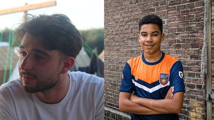Hakan (links) en Levi wonnen 20.000 dollar met een FIFA-toernooi van streamingplatform Twitch.