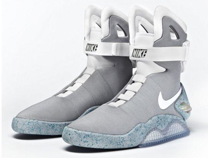 De Nike Air Mag, die iets meer dan dertienduizend euro waard is.