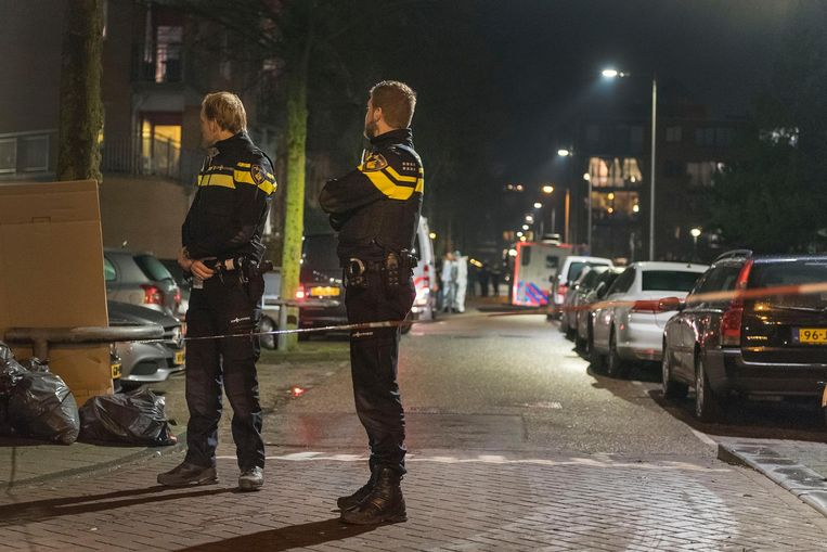 Beeld van na de schietpartij op Wittenburg in 2018, waarbij de onschuldige Mohamed Bouchikhi om het leven kwam.  Beeld anp