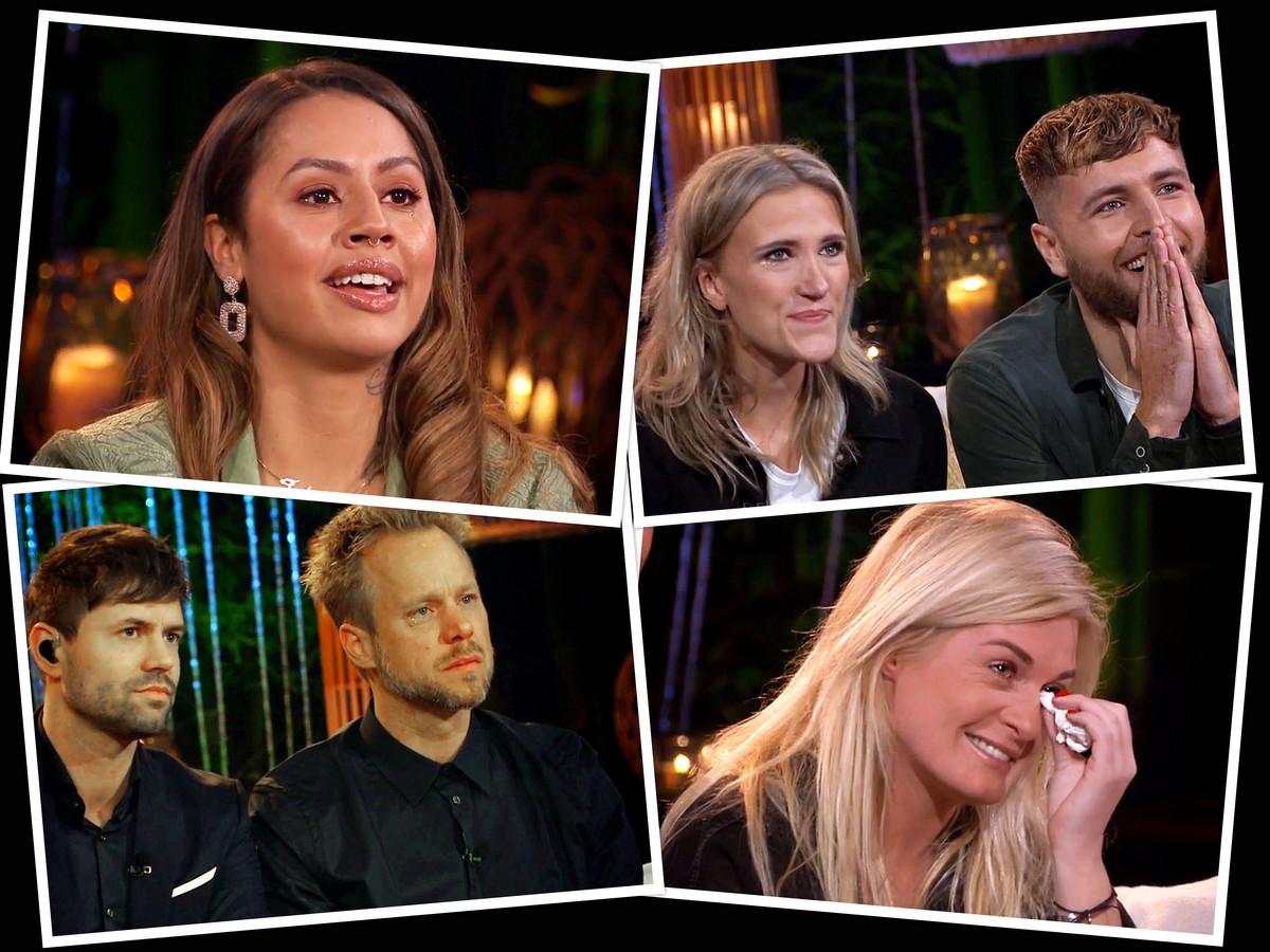 Emoties bij Tabitha, Suzan & Freek Diggy Dex en Sanne Hans bij de optredens van Stef Bos bij Beste Zangers